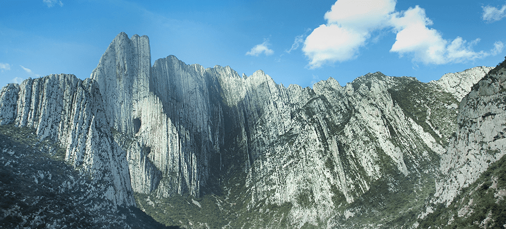 View of the huasteca park mountains