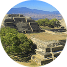 Panoramic view of the Monte Alban archeological site