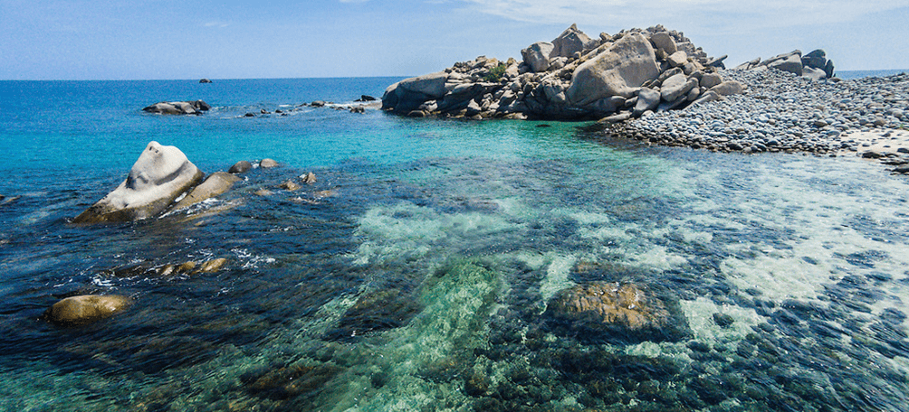 Rock formations in the sea of cabo pulmo